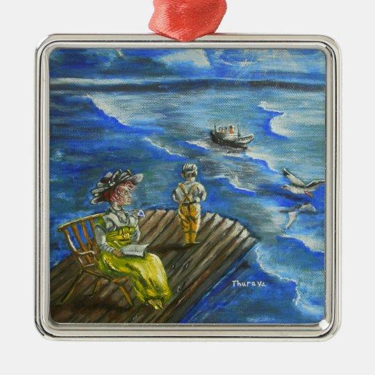 heart of ocean metal ornament