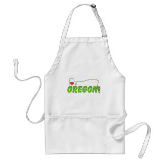 Heart Of Oregon tag Adult Apron