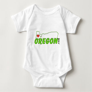 Heart Of Oregon tag Baby Bodysuit
