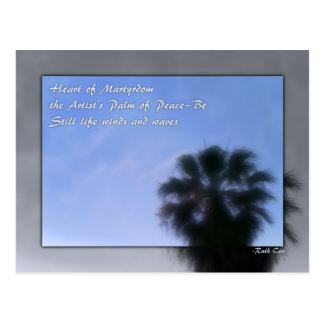 Heart of Palm of Peace Postcard