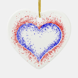 Heart of Patriotism Ceramic Ornament