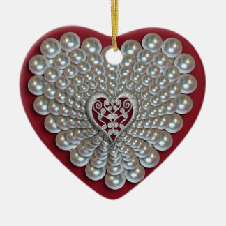 Heart of pearls photo Ornament