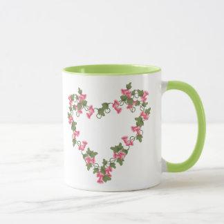 Heart of Pink Flowers Mug