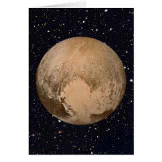 Heart of Pluto Starry Sky Greeting Card