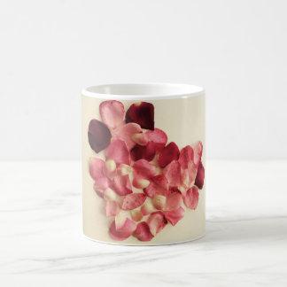 Heart of rose petals mug