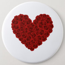 Heart of roses button