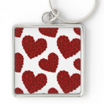 Heart of roses keychain