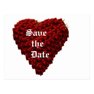 Heart of Roses wedding announcement Postcard