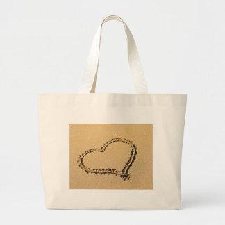 Heart of Sand Jumbo Tote Bag