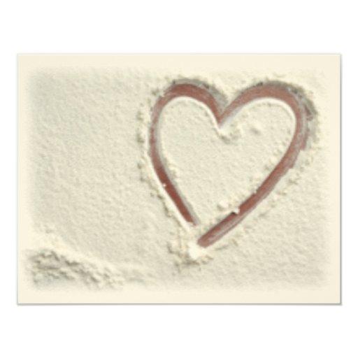 Heart of Sand Custom Invitations