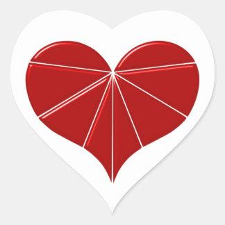 Heart of segments heart segment stickers