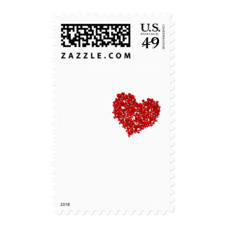Heart of Skulls - Emo Alternative Grunge Rock Punk Postage Stamp