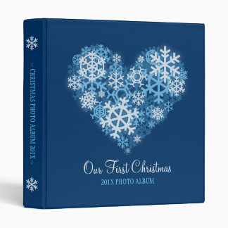 Heart of Snowflakes Blue Holiday binder