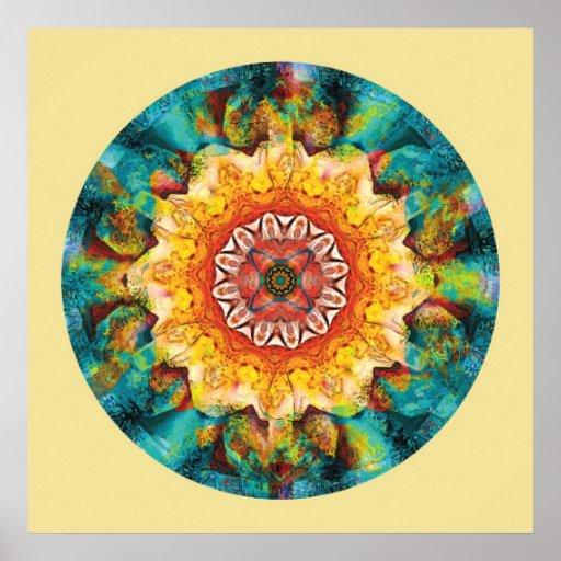 Heart of Surrender Mandala 4 Posters