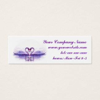 Heart of Swans in Lilac Mini Business Card