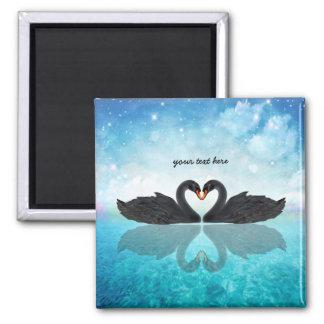 Heart of swans magnet