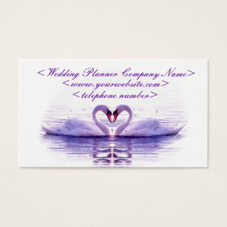 Heart of Swans Wedding Planner Business Card