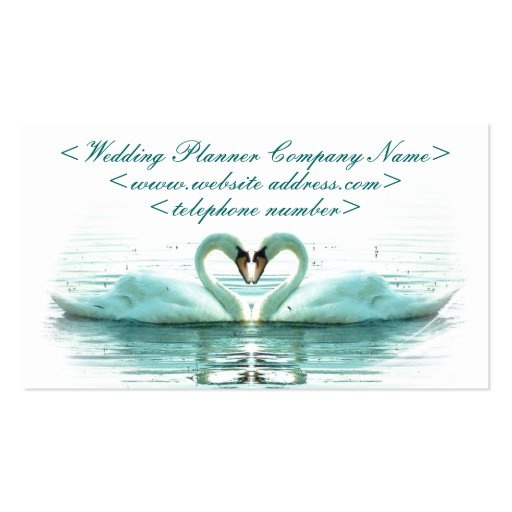 Heart of Swans Wedding Planner Business Cards