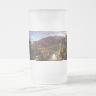 Heart of the Andes by Frederick Edwin Church Frosted Glass Beer Mug