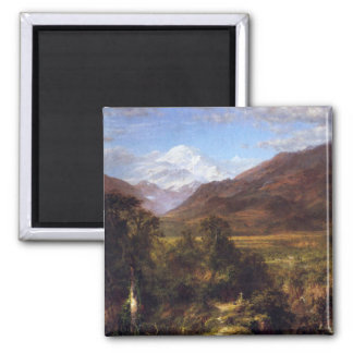 Heart of the Andes by Frederick Edwin Church 2 Inch Square Magnet