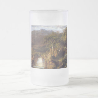 Heart of The Andes Frosted Glass Beer Mug