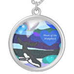 heart of the humpback whale moon valentines neckla personalized necklace