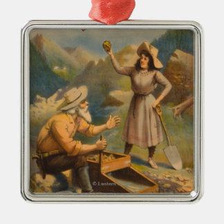 Heart of the Klondike Gold Mining Theatre Metal Ornament