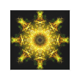 Heart of the Sun - Fractal Geometry - Yantra Stretched Canvas Print
