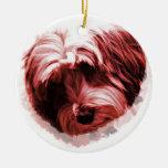 Heart of the Tibetan Terrier Ceramic Ornament