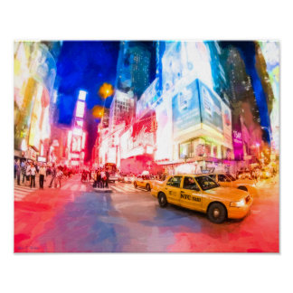 Heart of Times Square - NYC - 14x11 Archival Poster