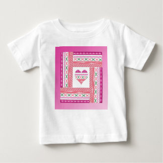 Heart of Trim in Frame of Trim, Pink, Green, Coral Baby T-Shirt