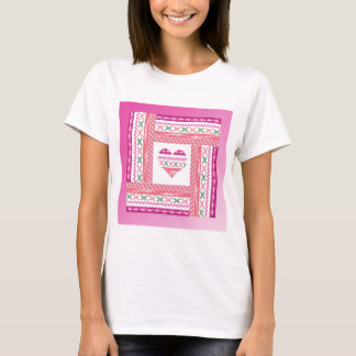Heart of Trim in Frame of Trim, Pink, Green, Coral T-Shirt