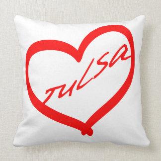 Heart of Tulsa Grade A Cotton Throw Pillow 20x20