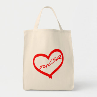 Heart of Tulsa Grocery Tote