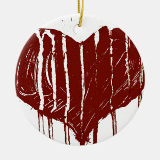 Heart of War Double-Sided Ceramic Round Christmas Ornament