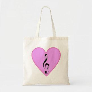 Heart o'G Clef Budget Tote Bag