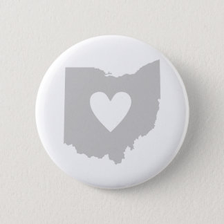 Heart Ohio state silhouette Button