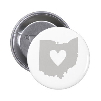 Heart Ohio state silhouette Pins