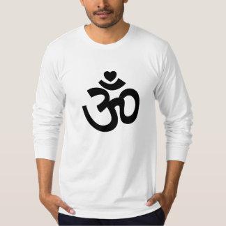 Heart Om Sign - Long-Sleeve Yoga Shirts