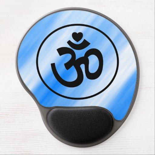 Heart Om Sign Mousepad - Yoga Gift Gel Mousepads