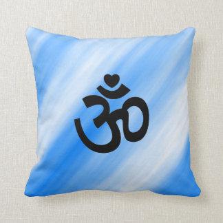 Heart Om Sign on Pillow - Yoga Gift