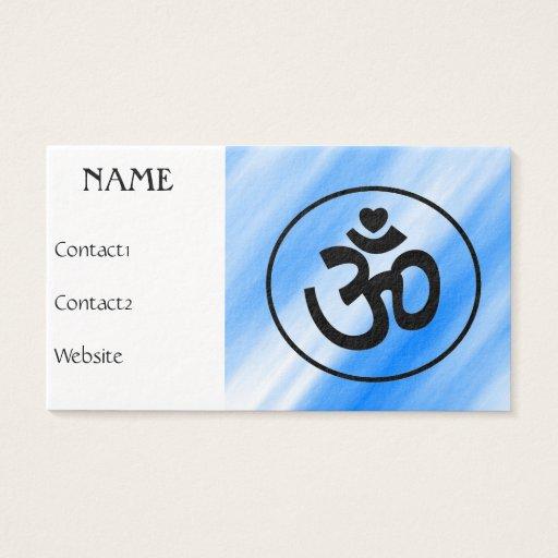 Heart Om Sign - Yoga Business Cards