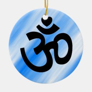 Heart Om Sign - Yoga Ornament (blue)