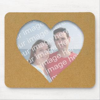 Heart On Cardboard Photo Frame Mousepad