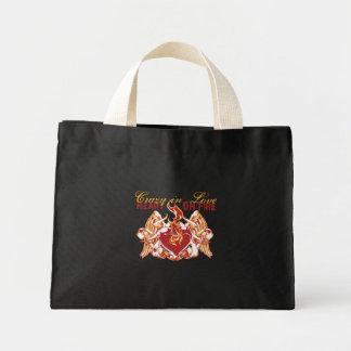 Heart On Fire Mini Tote Bag
