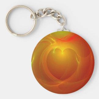Heart on Fire Keychain