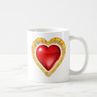 Heart on fire Mug