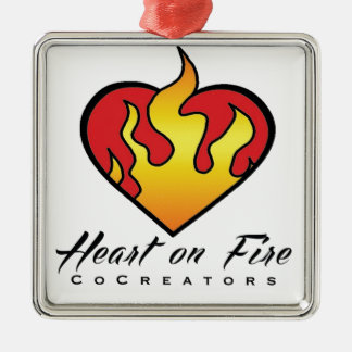 Heart on Fire Products Metal Ornament