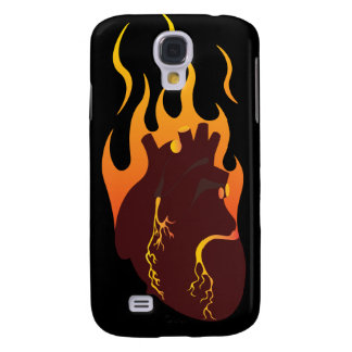 Heart on fire samsung galaxy s4 cover