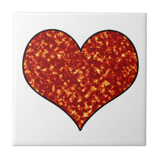 Heart on Fire Tile